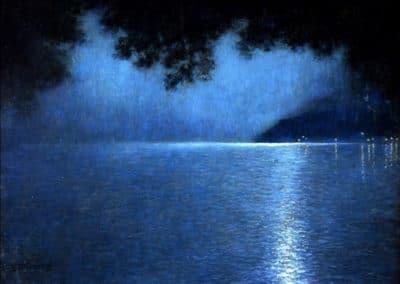Nuit sur le lac - Lucien Lévy-Dhurmer (1910)