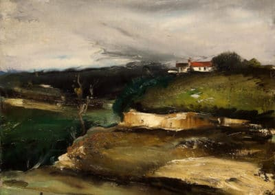 Paysage avec une maison sur une colline - Maurice de Vlaminck (1925)