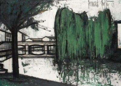 Saules pleureurs sur la rivière - Bernard Buffet (1961)