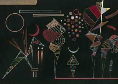 Etude pour contrastes réduits - Wassily Kandinski (1941)