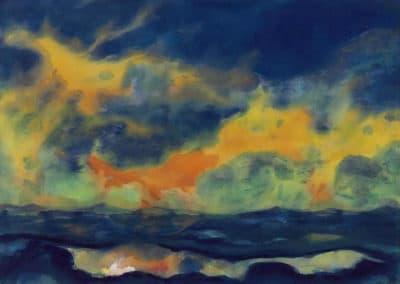 Herbsthimmel am Meer - Emil Nolde (1940)