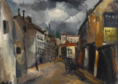 La vieille rue - Maurice de Vlaminck (1911)