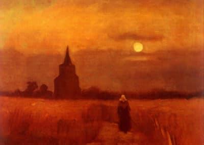 La vieille tour dans le champs - Vincent van Gogh (1888