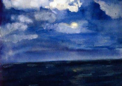 Moonlit seascape - John La Farge (1883)