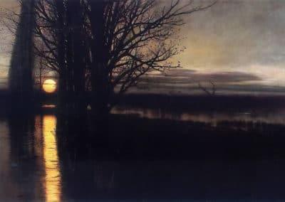 Moonrise - Stanislav Maslovsky (1884)