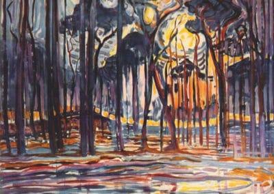 Woods near Oele - Piet Mondrian (1908)