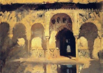 Alhambra, patio de los Arrayanes - John Singer Sargent (1879)