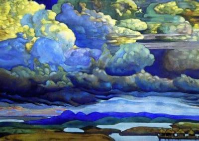 Bataille dans le ciel - Nicholas Roerich (1912)