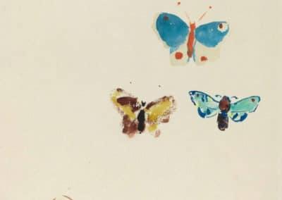 Cinq papillons - Odilon Redon (1912)