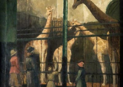 Giraffes at the Zoo - William Menzies Coldstream (1930)