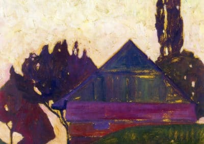 Haus zwischen Bäume - Egon Schiele (1908)
