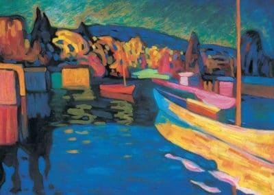 Herfstlandschap met boten - Wassily Kandinsky (1908)