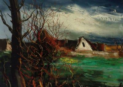 La ferme aux arbres - Maurice de Vlaminck (1942)