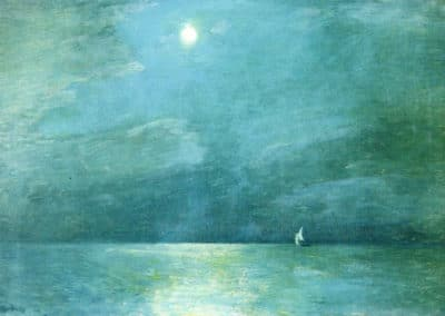 Moonlight on the sea - Childe Hassam (1901)