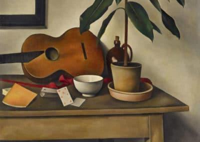 Nature morte à la guitare - Alexander Kanoldt (1924)
