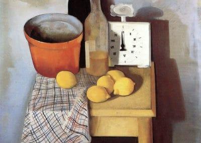Nature morte avec balance de cuisine - Felix Nussbaum (1940)