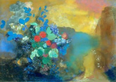 Ophélie au milieu des fleurs - Odilon Redon (1903)