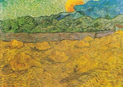 Paysage de soiree avec lune montante - Vincent van Gogh (1889)