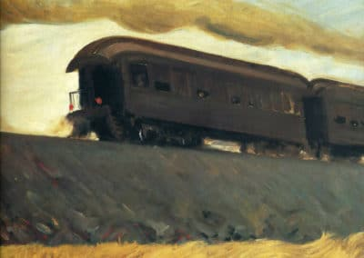 Railroad train - Edward Hopper (1936)