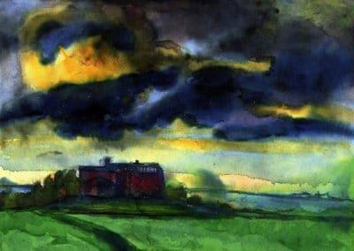 Seebüll storm clouds - Emil Nolde (1940)