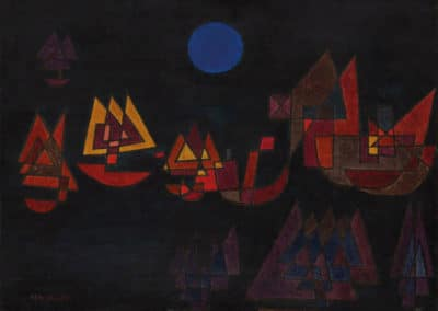 Ships in the dark - Paul Klee (1927)