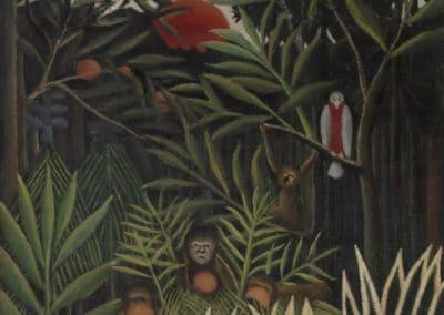 Singes et perroquet dans la forêt vierge - Henri Rousseau (1905)