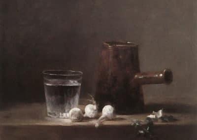 Verre d'eau et cafetière - Jean-Siméon Chardin (1760)