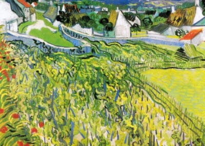 Vignes dominants Auvers - Vincent van Gogh (1890)