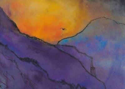 Violetten berglandschaft - Emil Nolde (1935)