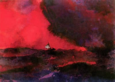 Dark red sea - EMil Nolde (1930)