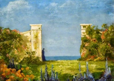 Garden overlooking the sea - Thomas Edwin Mostyn (1899)