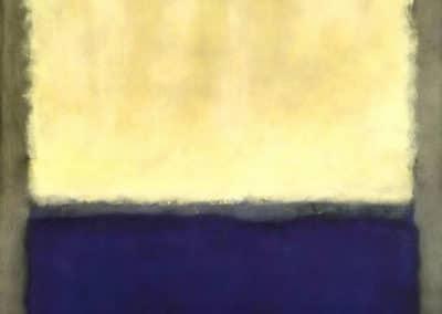 Light, earth and over, blue - Mark Rothko (1954)