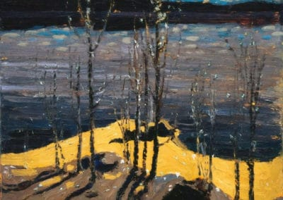 Moonlight birches - Tom Thomson (1915)