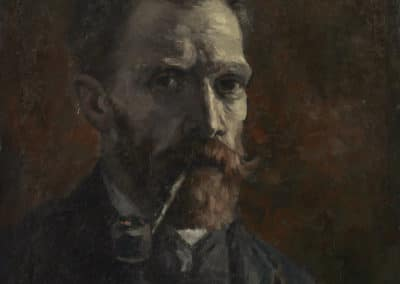 Portrait avec pipe - Vincent van Gogh (1886)