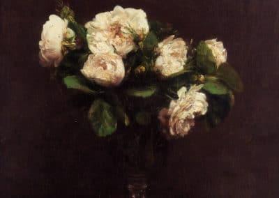 Roses blanches - Henri Fantin-Latour (1887)
