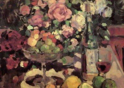 Roses et fruits - Konstantin Korovin (1899)