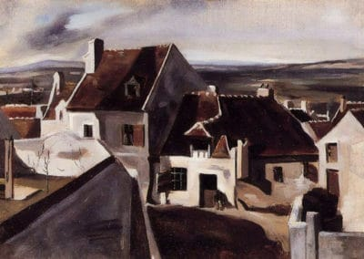 The inn at Montigny les Cormeilles - Camille Corot (1825)