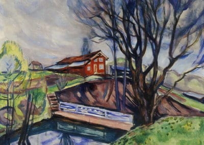 The red house - Edvard Munch (1926)