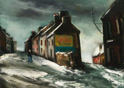 Village sous la neige - Maurice de Vlaminck (1935)