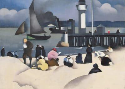 Baigneuses devant la jetée - Paul Elie Gernez (1920)