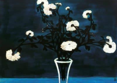 Chrysanthemums in a glass vase - Sanyu (1950)