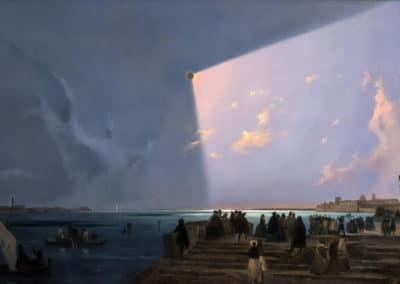 Eclissi di sole a Venezia - Ippolito Caffi (1842)