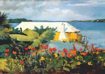 Flower garden and bungalow, Bermuda - Winslow Homer (1899)