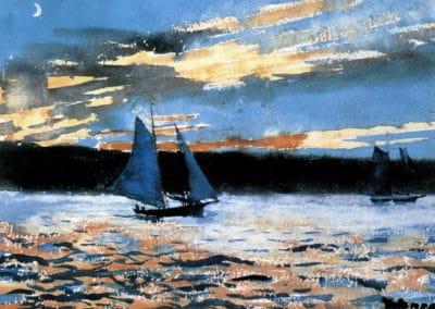 Gloucester sunset - Winslow Homer (1880)