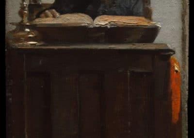 Jewish man reading - Edouard Brandon (1870)