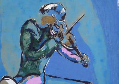 Le violiniste bleu - Marc Chagall (1929)