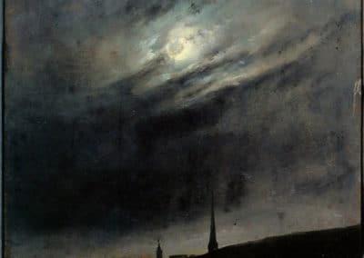 Moon night over Dresden - Johan Christian Dahl (1827)
