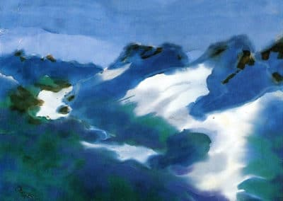 Mountain landscape (or blue and green) - Emil Nolde (1911)