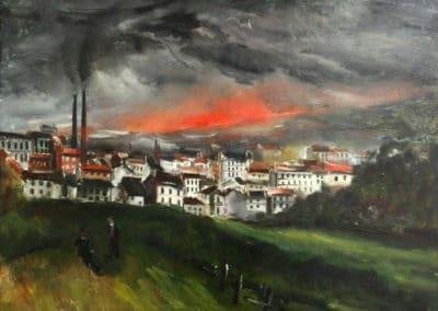 Paysage, Saint Denis la Rouge - Maurice de Vlaminck (1949)