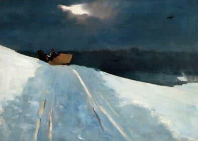 Sleigh ride - Winslow Homer (1890)